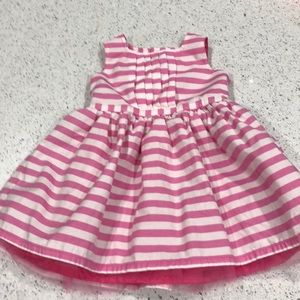 9 Month Carters Pink and White Dress.